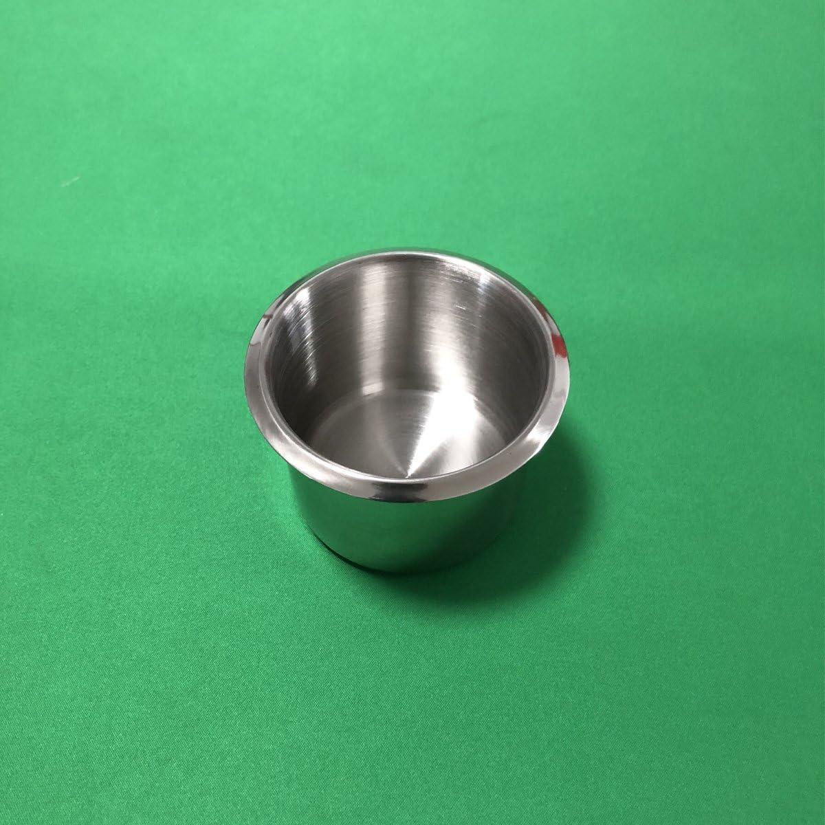 Yuanhe 10 Stück Edelstahl Drop In Pokertisch Getränkehalter Getränkehalter Klein Spielzeug
