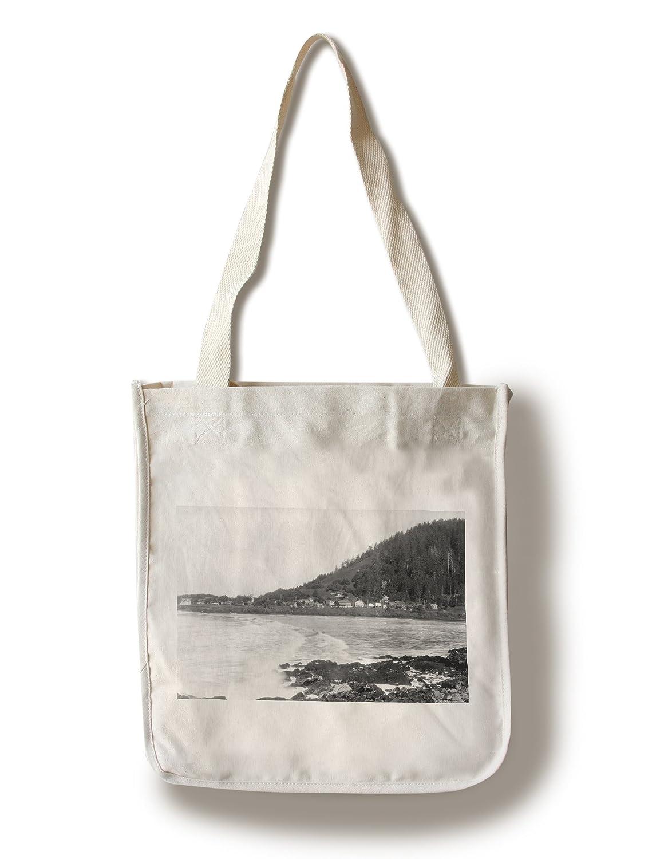 Yachats、オレゴンTown View and Ocean写真 Canvas Tote Bag LANT-3568-TT B0182QQH6O  Canvas Tote Bag