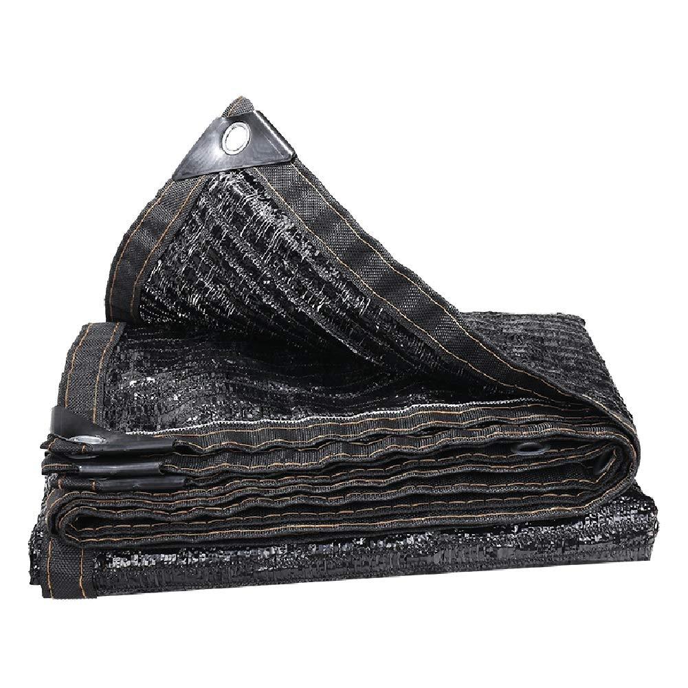 JIANFEI Rete Parasole Serre Antivento Idratante Giardino Carport Ispessimento Crittografia, 20 Taglie, Personalizzabile (colore   Nero, Dimensioni   6x20m)