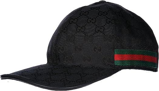 Gucci sombrero en algodón ajustable hombre nuevo negro: Amazon.es ...