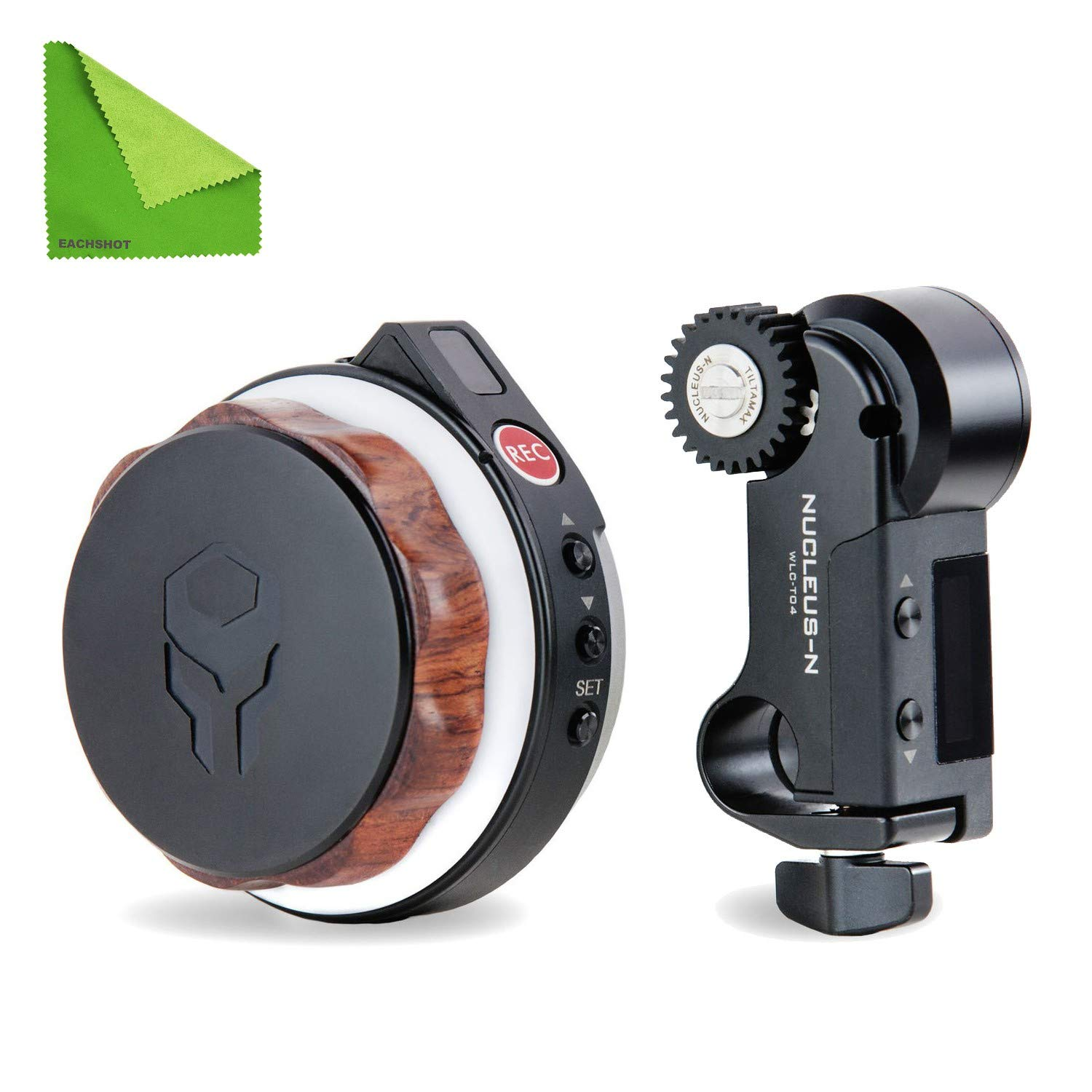 Tilta Nucleus-Nano Wireless Focus Control System to Wirelessly Control The Focus of Most DSLR, Mirrorless, or Cine-Style Lenses on Cage, Gimbal Such As Ronin S by Tilta