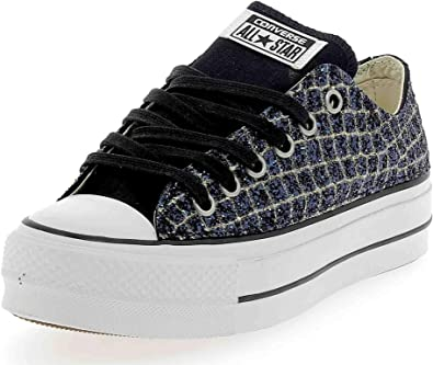 Converse Plate-Forme e'lvatrice CTAS Lift Clean Canvas Blue ...