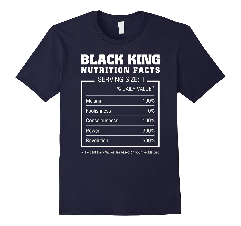 Black king Nutrition Facts T-shirt funny men women Gifts-T-Shirt