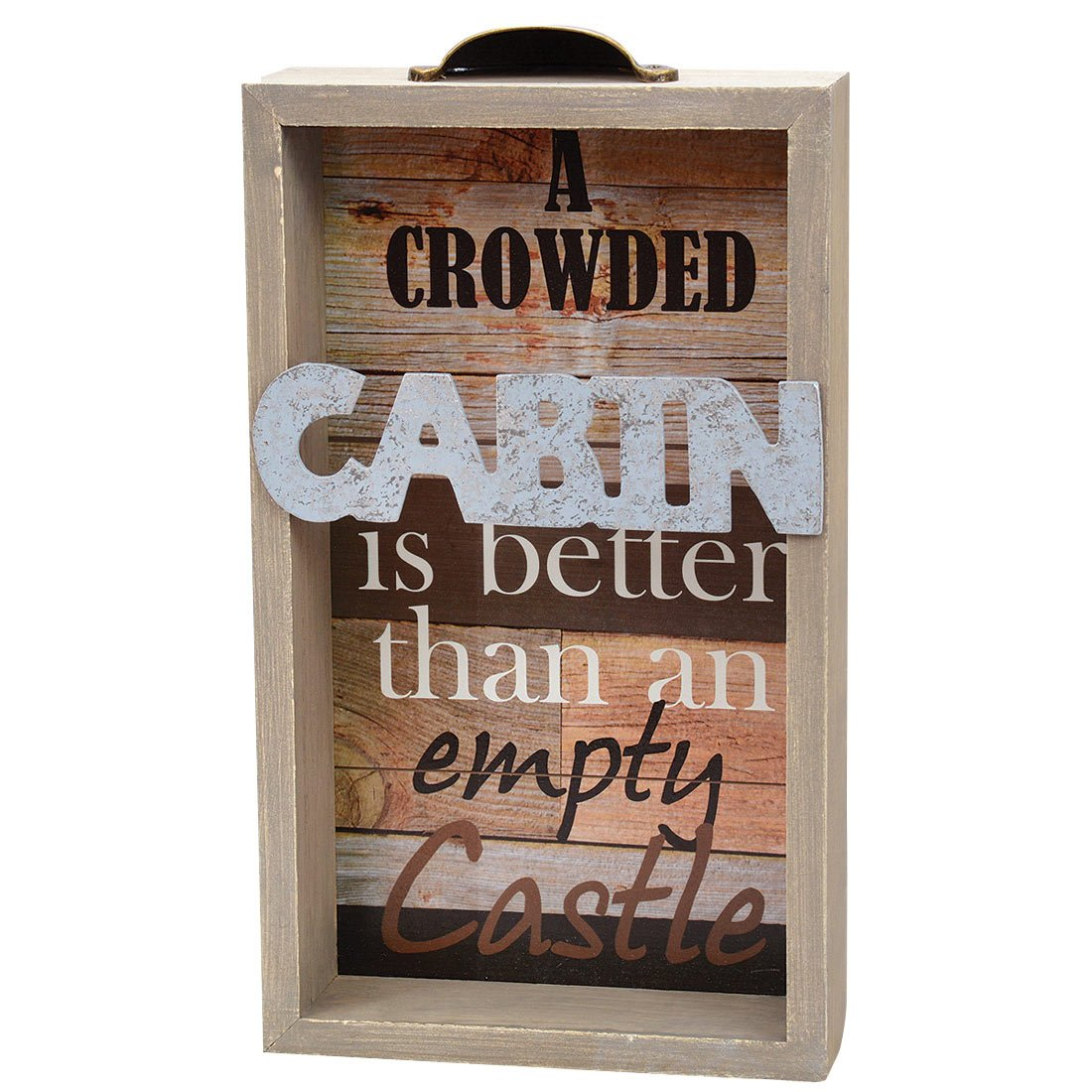 """Crowded Cabin"" Wood Wall Sign"