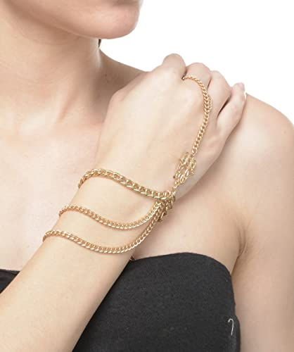 Buy The Pari Gold Alloy Ring Bracelet For Women Online At Low Prices