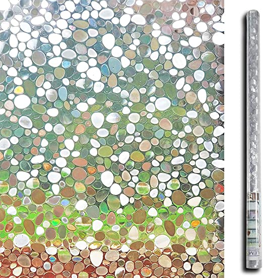 LEMON CLOUD 3D Privacy Window Frosted Film Bamboo Cling Pattern Films Normal x