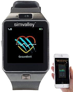 Simvalley Mobile handyuhr: Teléfono Móvil de Reloj ...