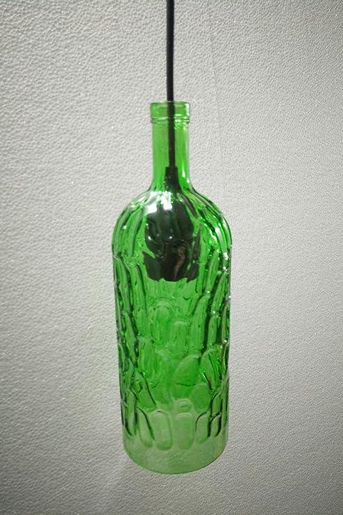 Candelabros de vidrio LED, colores de botella de vino ...