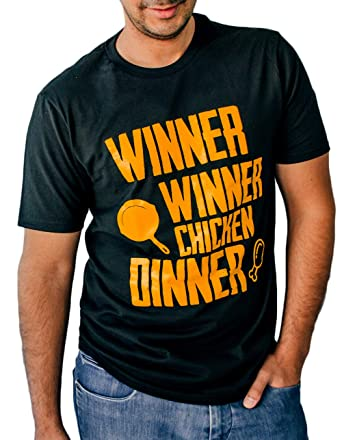 b7c14777 LeRage Shirts Winner Winner Chicken Dinner Shirt Funny Gamer Tee Men's Black  Small
