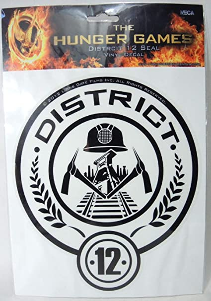 Amazon The Hunger Games Movie Vinyl Decals District 12 Toys