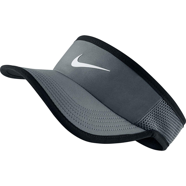 Amazon.com  Nike Feather Light Tennis Visor Black White Size Medium Large   Sports   Outdoors f3560ba7930