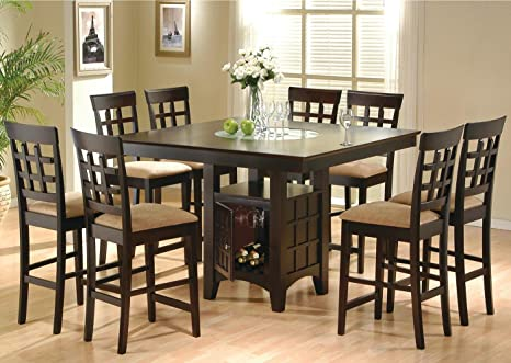 Incredible Amazon Com Coaster Rich Cappuccino Casual Dining Room Set Andrewgaddart Wooden Chair Designs For Living Room Andrewgaddartcom