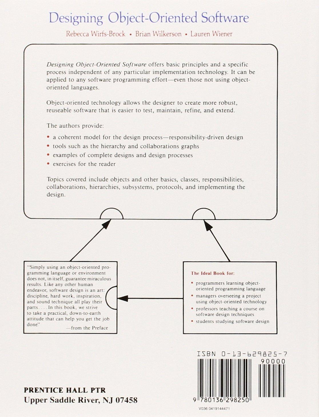 Designing object oriented software amazon rebecca wirfs brock designing object oriented software amazon rebecca wirfs brock brian wilkerson lauren wiener libros en idiomas extranjeros malvernweather Choice Image