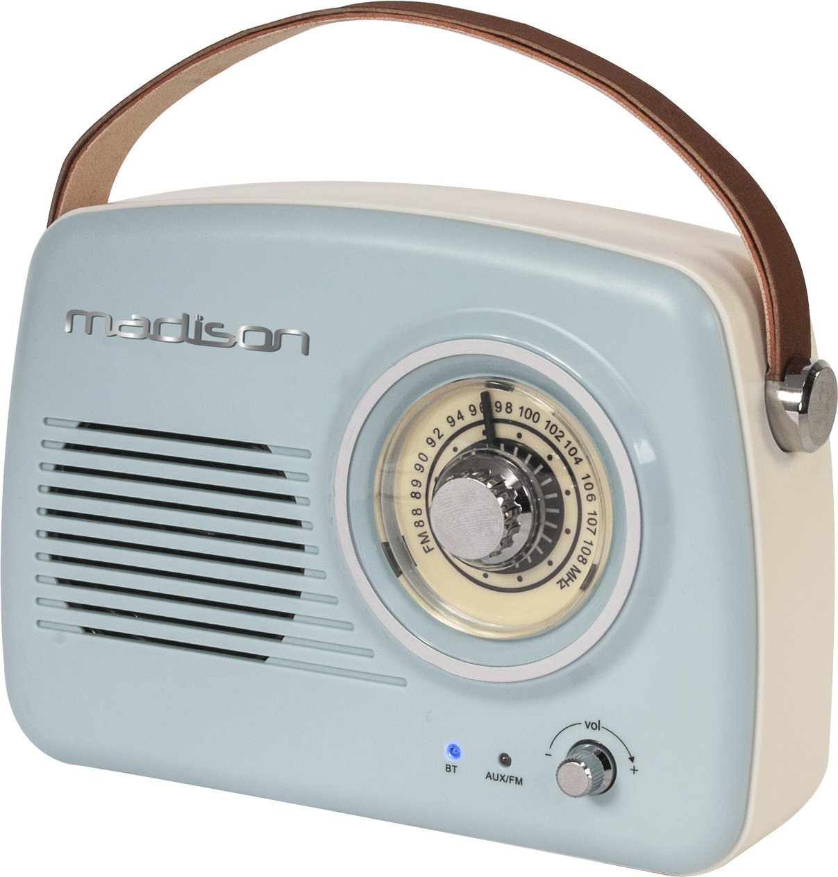 FREESOUND-VR30 - MADISON - Radio vintage con Bluetooth (30 W, USB ...