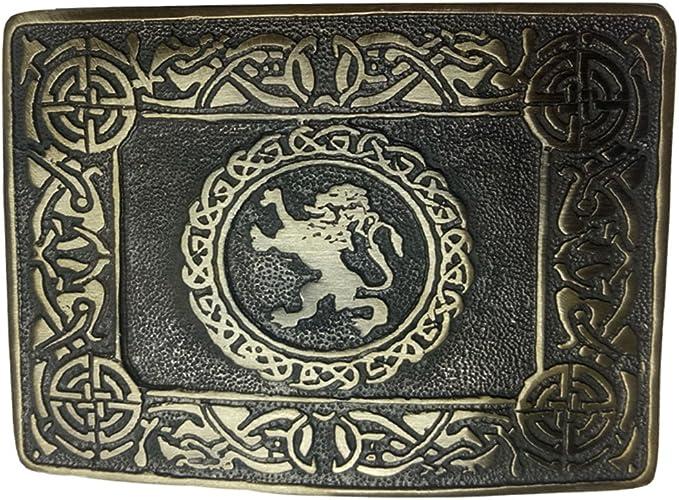 Mens Scottish Kilt Belt Buckle Rampant Lion Antique//Chrome Finish Kilt Pin Socks
