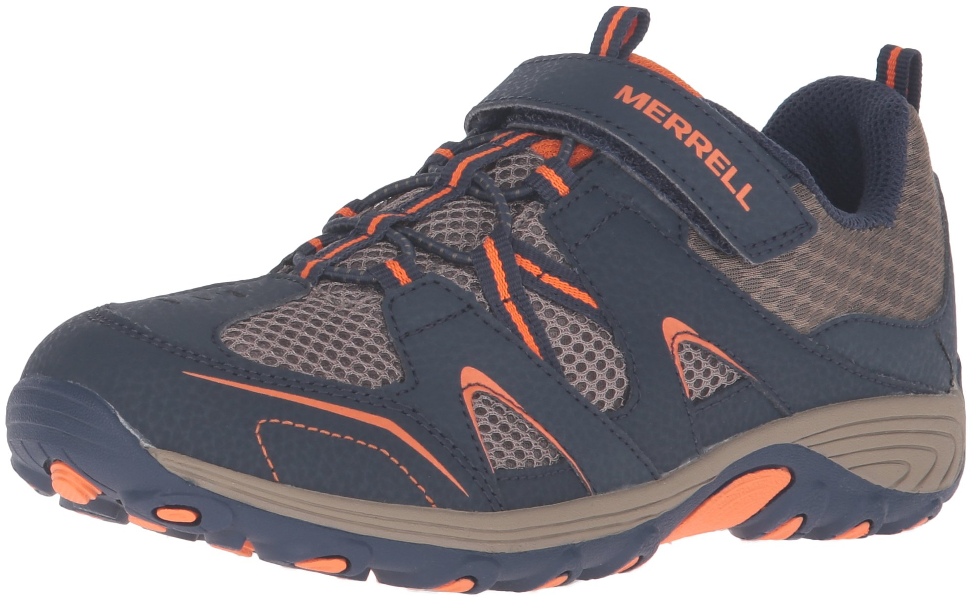 Merrell Trail Chaser Hiking Shoe (Little Kid/Big Kid), Navy/Taupe, 4 M US Big Kid