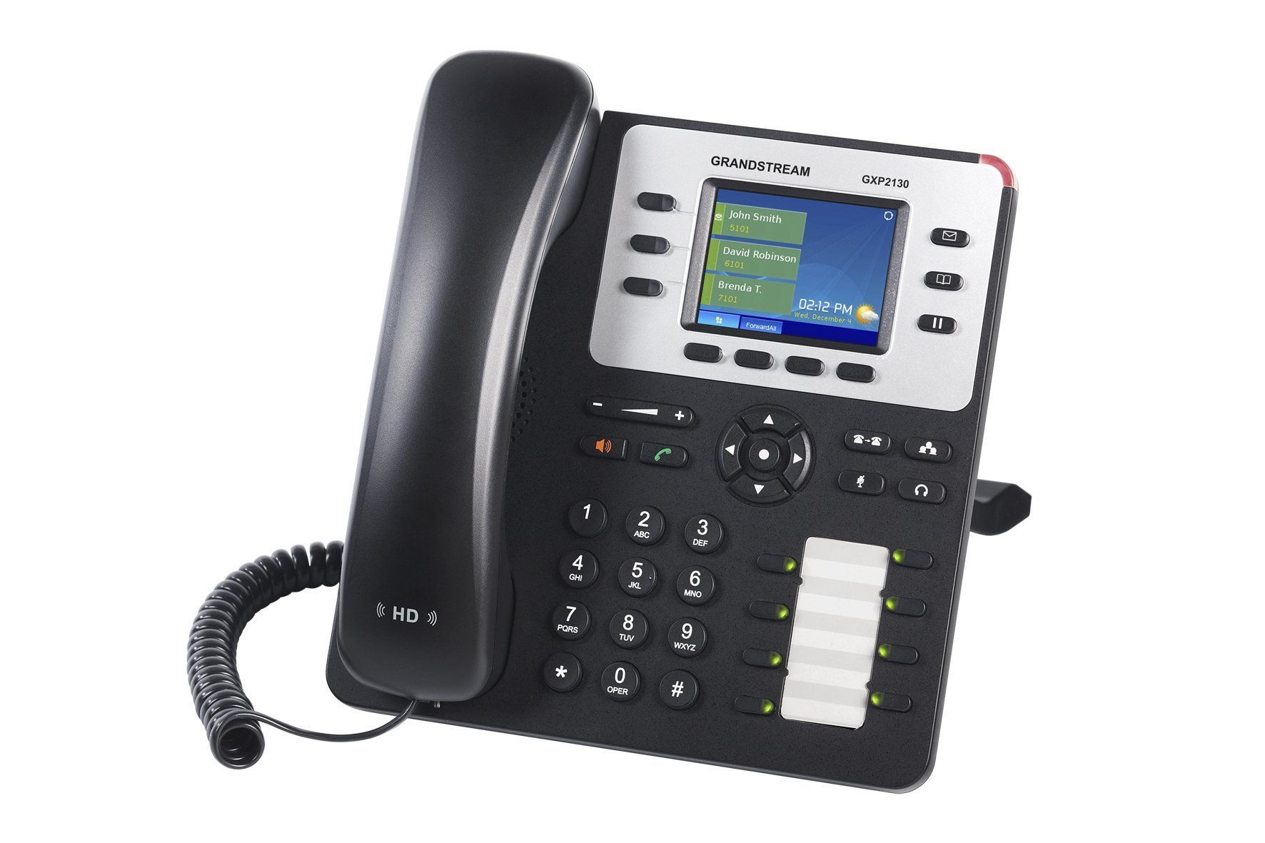 Grandstream Enterprise IP Telephone GXP2130 (2.8'' LCD, POE, Power Supply Included) by Grandstream
