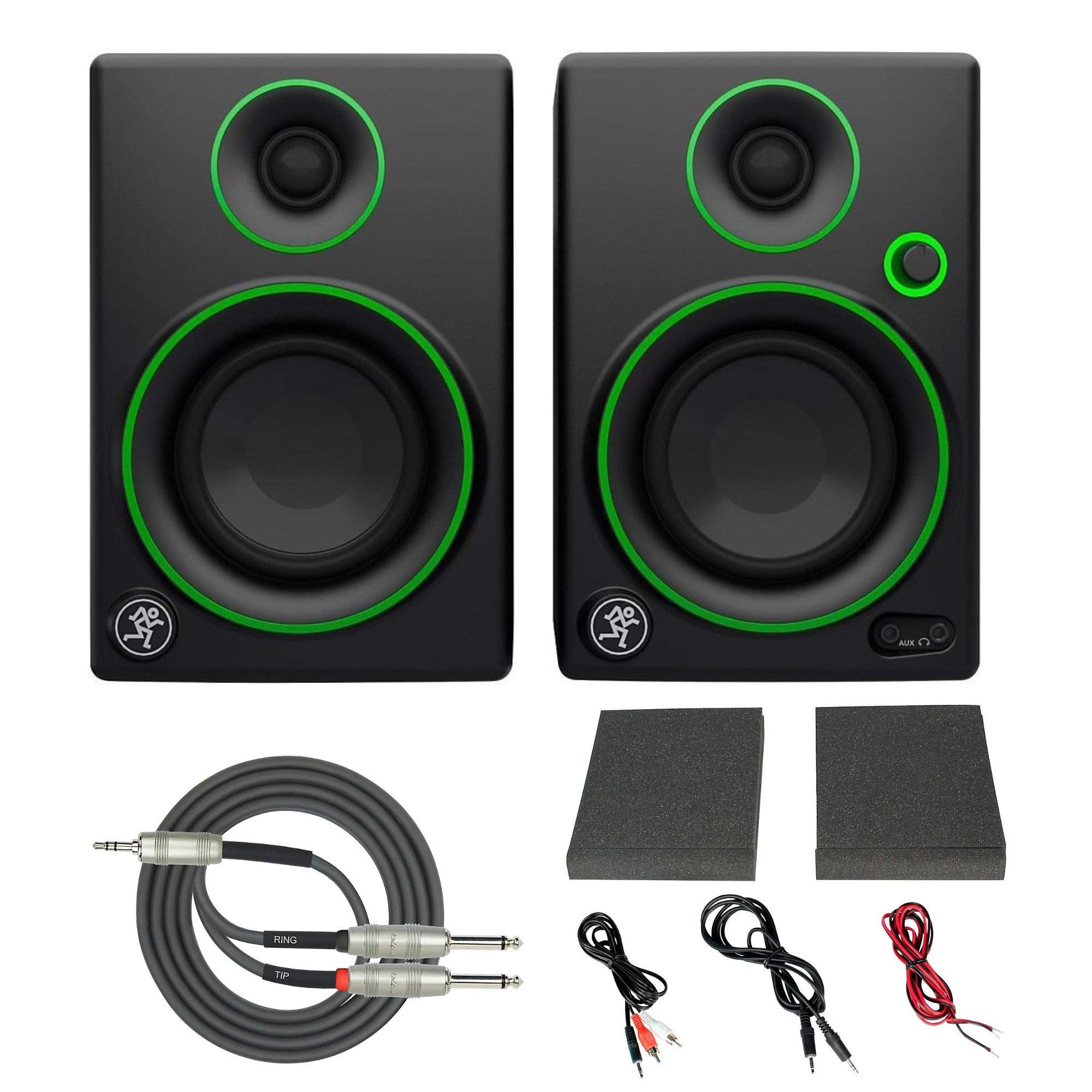 Mackie CR3 3'' Creative Reference Multimedia Monitors (Pair) with Breakout Cable