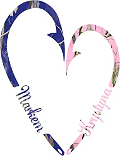 Amazon.com: Fish Hook Heart for couples/ Camo and Pink Camo ...