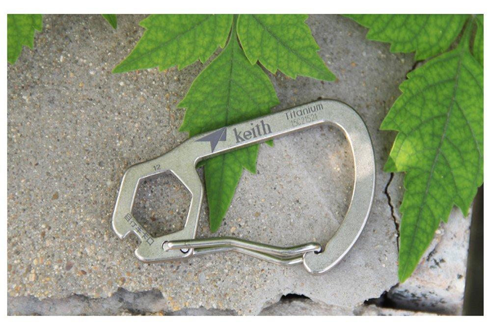 Keith titanio mosquet/ón al aire libre herramienta de supervivencia Camping mosquet/ón llave regla