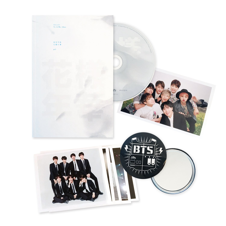 BTS 3rd Mini Album - In The Mood For Love PT.1 [ WHITE Ver. ] CD + Photobook + Photocard + FREE GIFT / K-POP Sealed