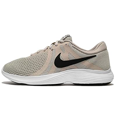fc2d2848daa7 Image Unavailable. Image not available for. Color  NIKE Womens Revolution 4  Light Bone Black-Pale Grey-White Running Shoes (