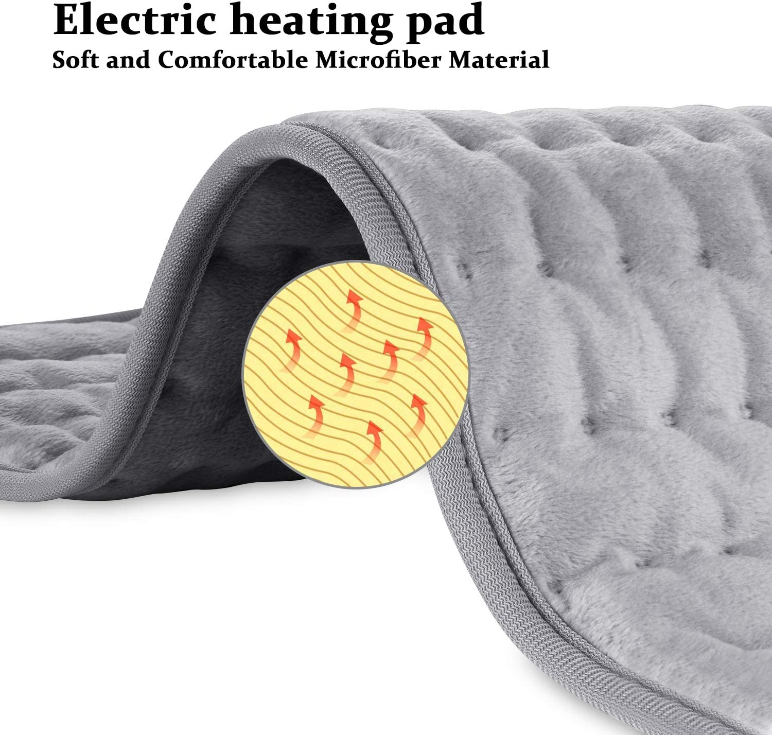 Electric Heating Pad Blanket For Pain Cramps Relief