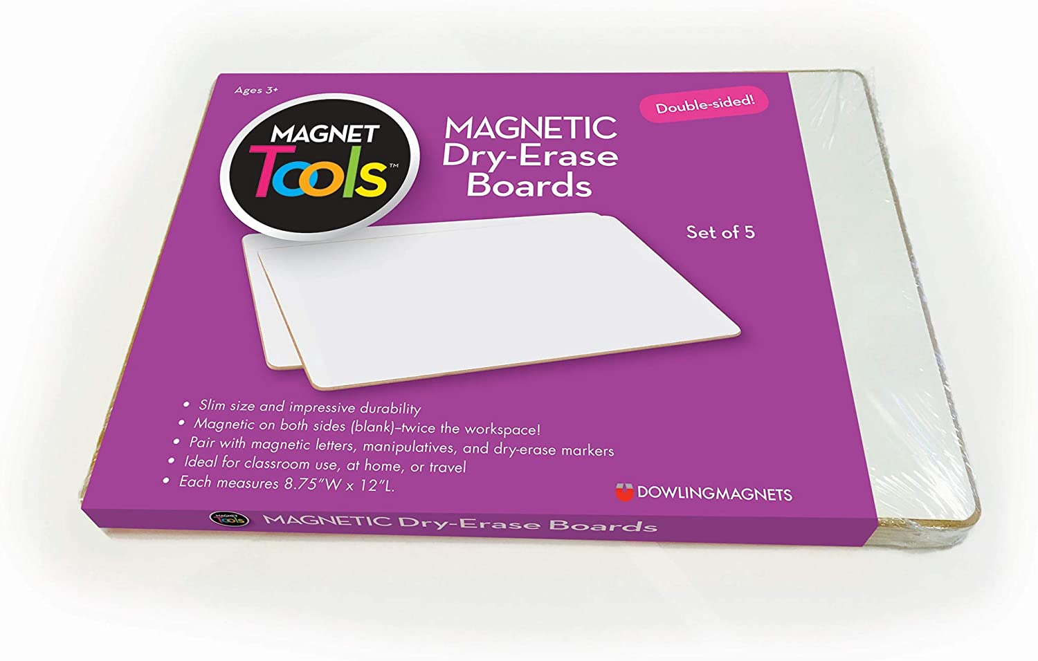 """Dowling Magnets Magnetic Dry-Erase Boards (Double-Sided Blank), 5 Pack, 12"""" Long x 8.75"""" Wide (735207)"""