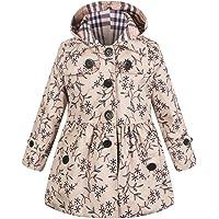 LSHEL Outwear - Abrigo de Solapa para niñas con Doble Pecho, Cintura Delgada, Chic, Cortavientos