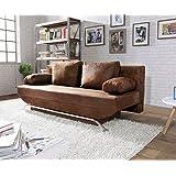 Sofa Couch Wohnlandschaft Linus Mit Relax Braun Amazon De