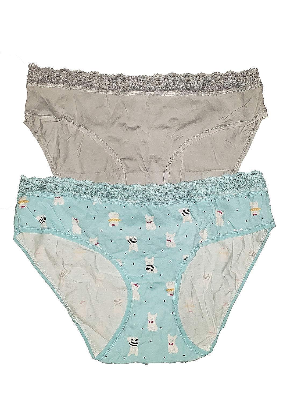 Variety Jane Bleecker Womens Cotton Stretch Hipster Panties 6pk Blue Pink