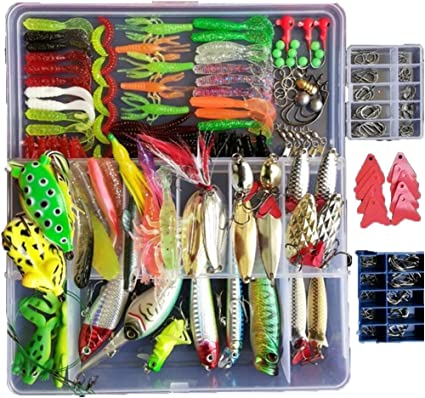 Amazon.com: Smartonly 275pcs Fishing Lure Set Including Frog Lures
