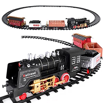 Christmas Tree Train Set Ibasetoy Electric Train Set With Engine, Light and  Sound and Aprox - Amazon.com: Christmas Tree Train Set Ibasetoy Electric Train Set