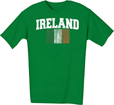 Irish American Flag Men/'s T-Shirt St Patricks Ireland USA