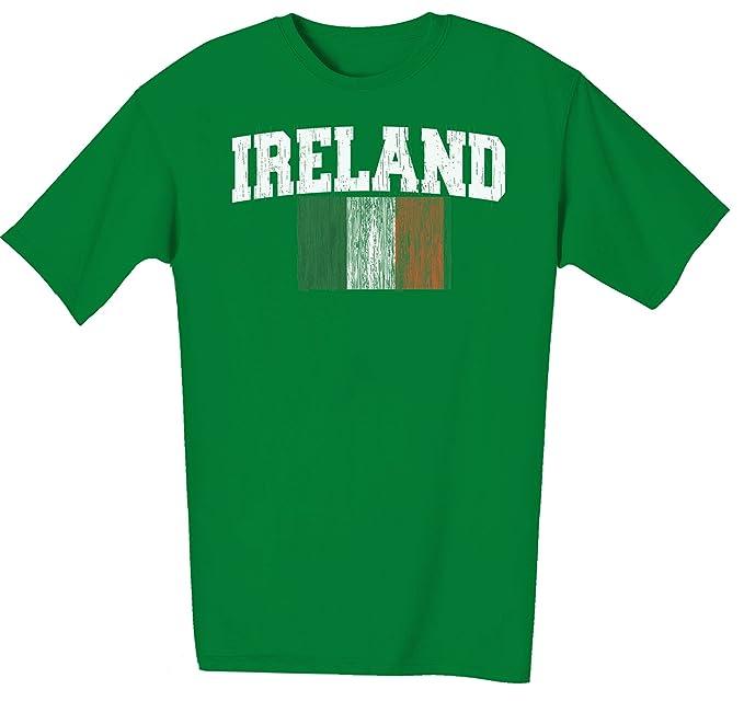 Amazon.com: Irlanda bandera tricolor para hombre playera ...