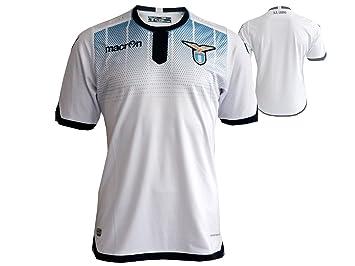 Macron Lazio ROM 3rd Jersey Jugador Camiseta de fútbol Color Blanco: Amazon.es: Deportes y aire libre