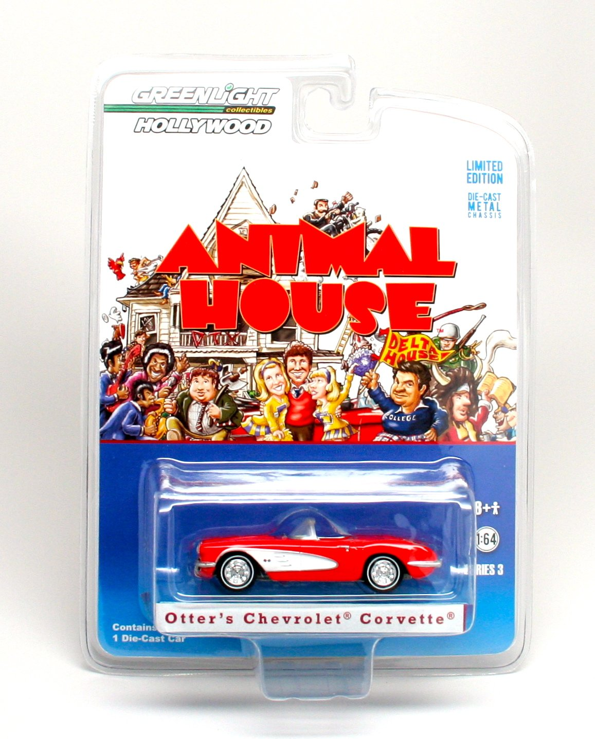 Greenlight Collectibles Hollywood Series 3 Animal House - 1959 Chevrolet Corvette Die Cast Vehicle by Greenlight Hollywood by Greenlight Hollywood