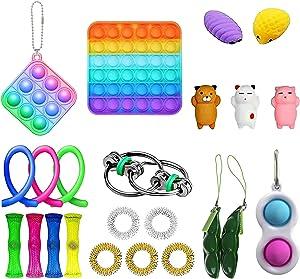 GBSELL 30Pcs Sensory Fidget Toy Set, Fidget Blocks,Fidget Pack Sensory Relieves Stress Anxiety for Kids Adults (23PC H)