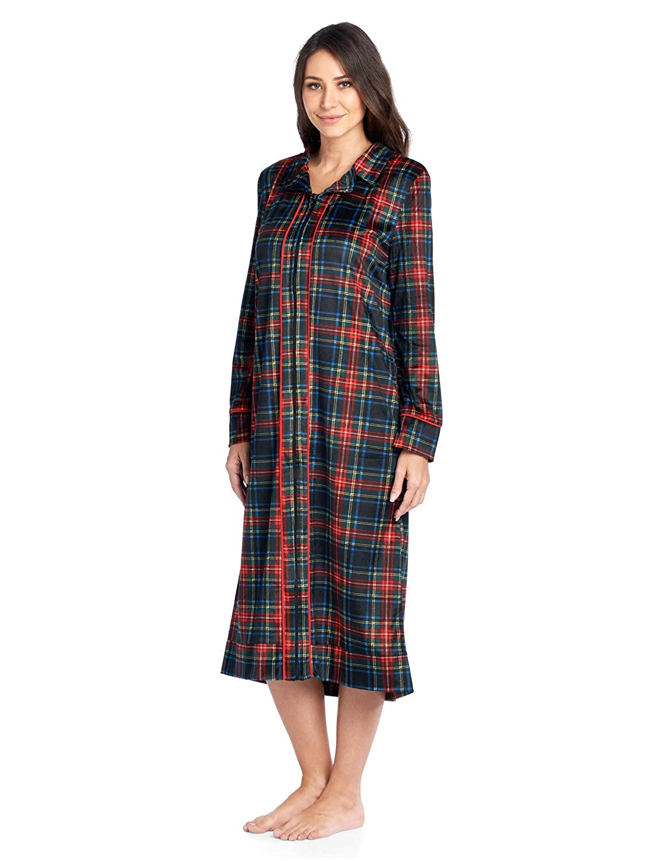 Ashford   Brooks Women s Long Zip Up Mink Fleece Lounger Robe at Amazon  Women s Clothing store  ca51cfba2