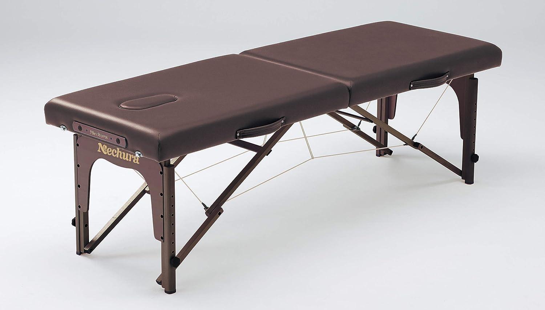 ネチュラSimple Practice(シンプルプラクティス)(ブラウン) 脚部:ウォルナット木製 折りたたみベッド  ブラウン B07N65TP9Y