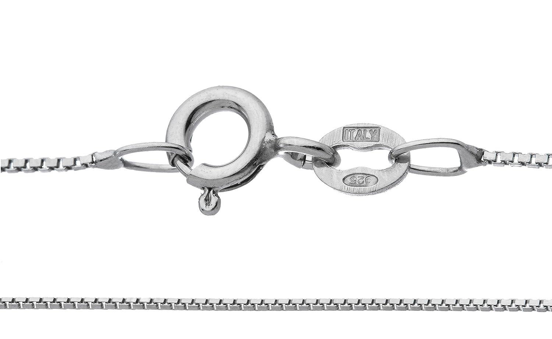 746ca5cb9f3 Amazon.com: 925 Italy Sterling Silver 1mm Box Chain -20