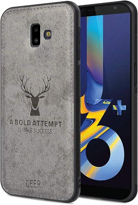 Funda Samsung Galaxy J6 Plus 2018, Carcasa Movil Samsung J6 Plus 2018 Funda Blanda a Prueba de Golpes Funda de TPU Carcasa para Teléfono Inteligente Samsung Galaxy J6 Plus 2018, Gris: Amazon.es: Electrónica