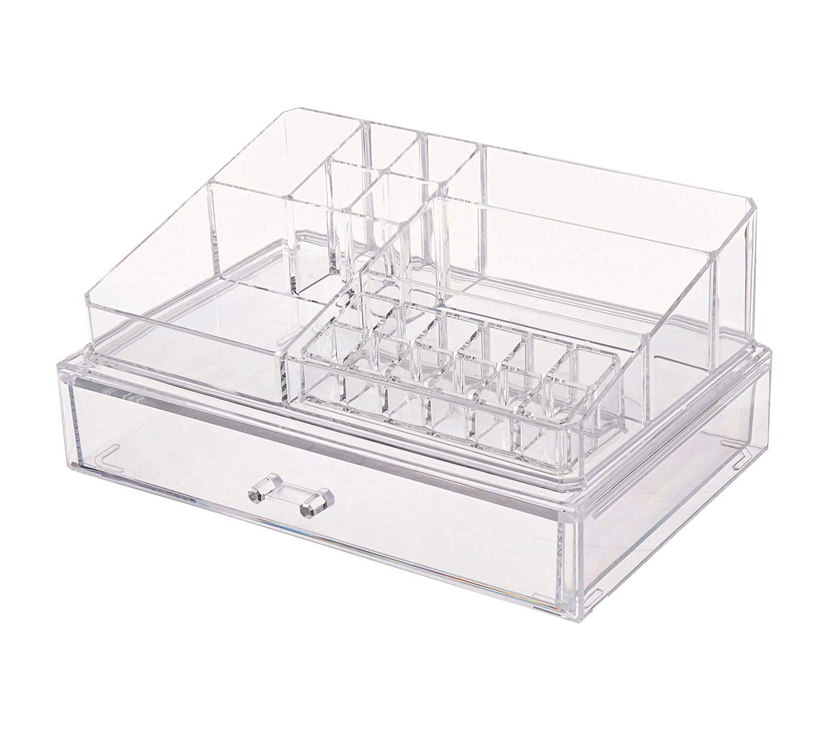 Home Décor Premium Clear Acrylic Personal Organizer with XL Drawer Storage Durable Strong Decorative