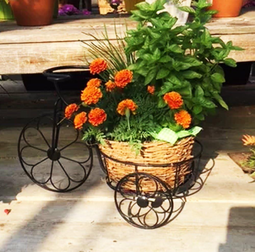 Metal bicicleta para macetas jardín maceta planta soporte 20