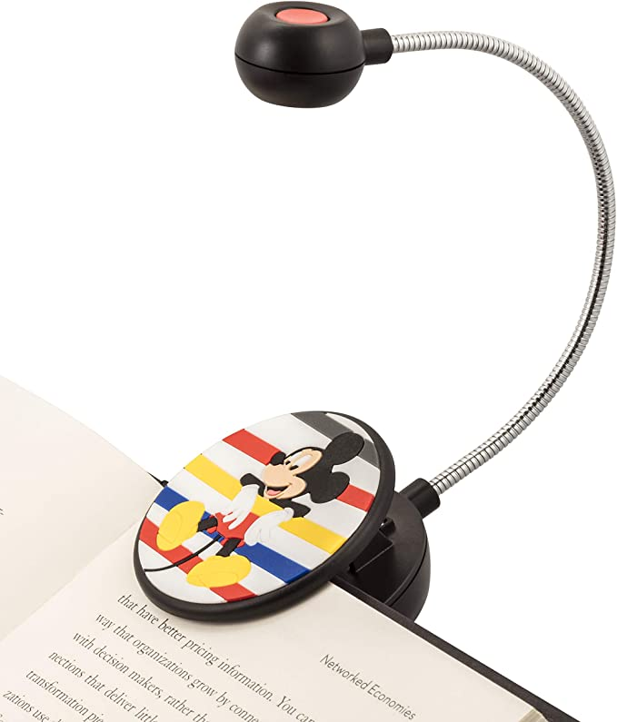 Cute Bookmark Light for Kids and Adults WITHit Clip On Book Light Reduced Glare Baseball LED Reading Light with Clip for Books and eBooks Portable and Lightweight Batteries Included