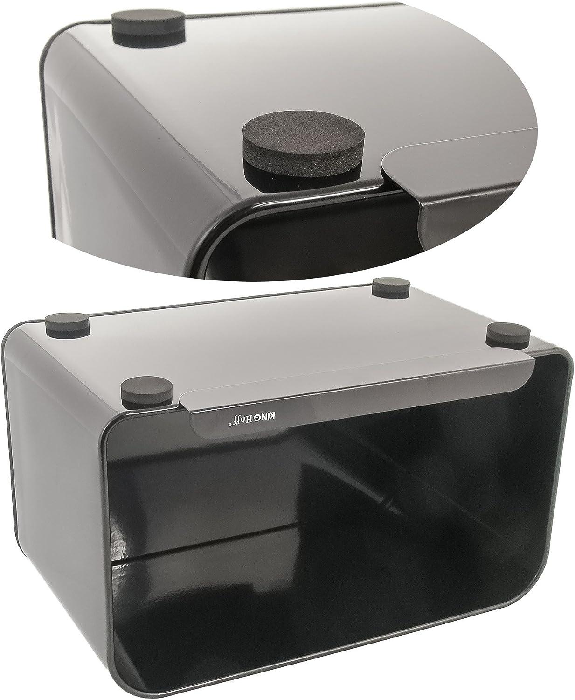 tagliere Elegante cestino portapane con copertura in legno bianco