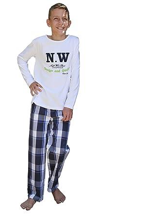 e44edb261df98 Pyjama Garçon - Manches Longues - Pantalon Et T-Shirt Haute Qualité 180Gr M²