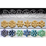 Snowflakes 6 Disk Set for Cookie Presses (SIZE M) *See DISK SIZING Image to LEFT of Product Information for appropriate DISK SIZE for your Cookie Press.*