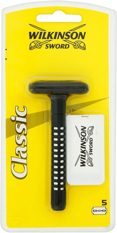 5x Wilkinson Sword Classic Razor + 5Blades