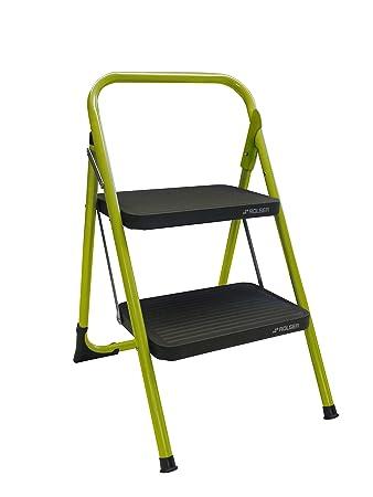 folding step ladder steps green abru domestic aluminium 2 tread home depot bathla